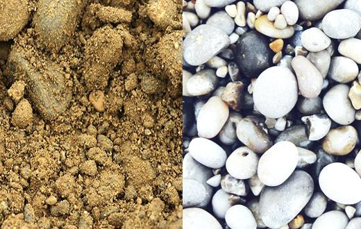 Kies, Sand und Splitt