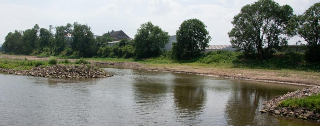 Ein neuer Arm für die Weser bei Minden - Renaturierung nach Kiesabbau